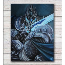 Tištěná kopie Lich King, World of Warcraft,A3