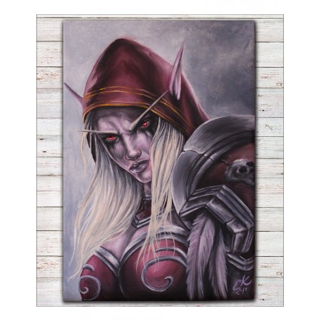 Tištěná kopie, Sylvanas Windrunner, World of Warcraft, A3