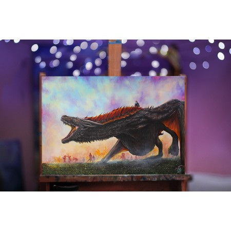 Tištěná kopie, Drogon, Game of Thrones A3