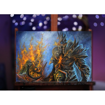 Tištěná kopie, Lich King, Bolvar, World of Warcraft A3